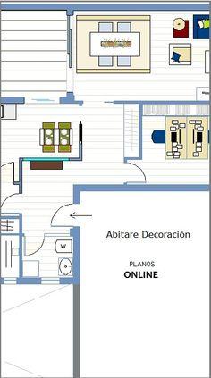 Abitare Decoración /  PLANOS ONLINE http://abitaredecoracionblog.com/hacer-planos-online/