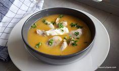 Supă cremă de pui cu legume - rețeta simplă și delicioasă | Savori Urbane How To Cook Mushrooms, Thai Red Curry, Stuffed Mushrooms, Clean Eating, Goodies, Cooking, Ethnic Recipes, Food, Stuff Mushrooms
