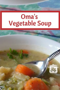 This homemade vegetable soup is so quickly made using frozen vegetables and any leftovers you might have lying around. It's a nourishing way to clean out your freezer and fridge!