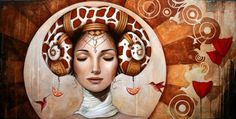 Another amazing headdress (Sophie Wilkins | Magic Realism painter)