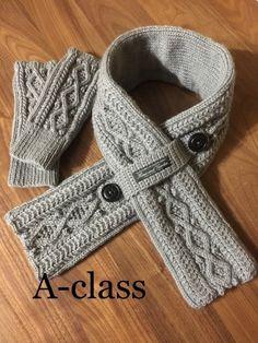 小さな紳士用マフラーと手袋の作り方 編み物 編み物・手芸・ソーイング ハンドメイドカテゴリ アトリエ