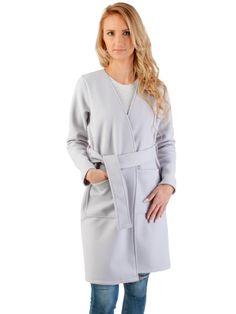 b518a53dbfd1c Płaszcz damski PLUS SIZE S-XXL czarny wiosenny - XELKA odzież damska online,  sklep internetowy I Odzież damska plus size, XXL, duże rozmiary, dla  puszystych