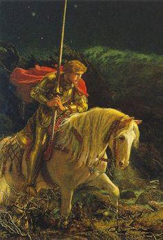 Arthur Hughes - Sir Galahad (detail)