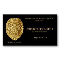 Lapd police officer business cards funny fake lapd business cards faux lapd police officer fake police officer business cards add your own info colourmoves