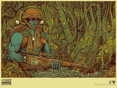 Vice Press release stunning new Rogue Trooper poster by Florian Bertmer | downthetubes.net
