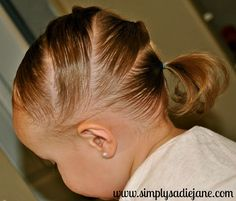 So many hairstyles for toddlers with short/fine hair! All you need is a comb, water bottle, rubber bands and of course some distractions! Im SO doing this with Mila Easy Toddler Hairstyles, Short Hairstyles Fine, Baby Girl Hairstyles, Princess Hairstyles, Cute Hairstyles, Hairstyle Ideas, Kids Hairstyle, Teenage Hairstyles, Short Haircut