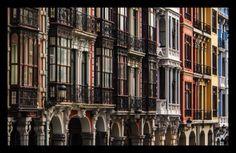 San Francisco street, Aviles, Asturias, Spain