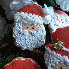Cute Mr Claus Christmas cookie by Teri Pringle Wood