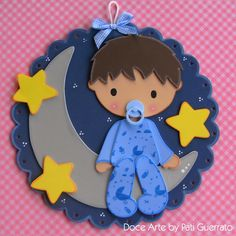 Doce Arte by Pati Guerrato: baby Foam Crafts, Baby Crafts, Diy And Crafts, Crafts For Kids, Paper Crafts, Baby Shawer, Baby Kids, Baby Shower Cards, Baby Scrapbook