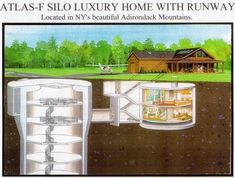 $1.75 million luxury cabin in upstate new york with underground bunker made form an old missile silo.
