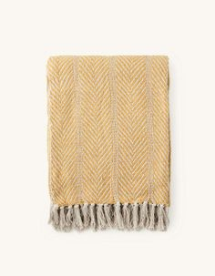 Blanket | Recycled cotton | 130 x 170 cm | Søstrene Grene Cotton Blankets, Decoration, Scandinavian Design, Chevron, Anna, New Homes, Textiles, Wool, Lambs