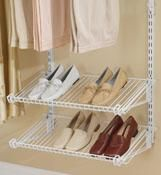 Rubbermaid 3H9400TITNM Configurations Closet Shoe Shelves Titanium  $23.18 two 2 ft. shelves for 6-8 pair of shoes
