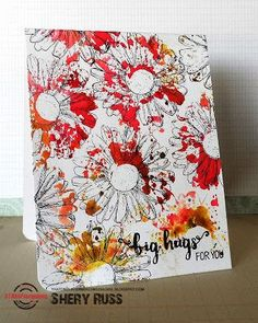 Paper craft project no. 360: Big hugs for you one layer card