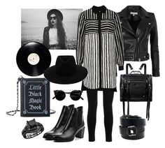 """""""Black + White"""" by shaverina-a on Polyvore featuring мода, Balmain, IRO, Lost Ink, McQ by Alexander McQueen, Current Mood, rag & bone и Hermès"""