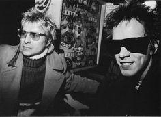 Jerry Nolan and Johnny Rotten at CBGB's, 1979. Photo by Joe Stevens.