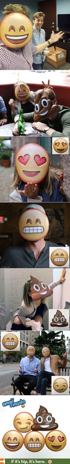 Emoji Masks!  Cheap, fun and easy for #Halloween