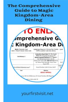 The Comprehensive Guide to Magic Kingdom-Area Dining - from yourfirstvisit.net | #DisneyWorldDining #DisneyWorldRestaurants #MagicKingdom #DisneyWorldTips Disney World Deals, Disney World Food, Disney World Restaurants, Area Restaurants, Disney World Planning, Walt Disney World Vacations, Dining At Disney World, Disney Dining, Disney World Characters
