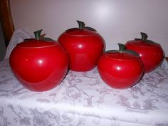 Apple Canisters by JeanneBeans on Etsy