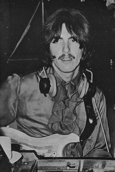 """"""" at June during the recording session for """"Revolution Photos: Beatles Book Library"""" George Harrison, Beatles Books, Beatles Guitar, All My Loving, Just Good Friends, The White Album, Kinds Of Dance, The Fab Four, Real Hero"""