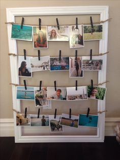 DIY picture frame holder.