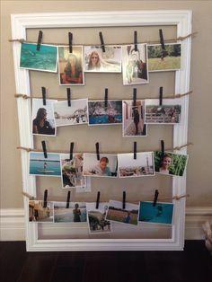 DIY picture frame holder.