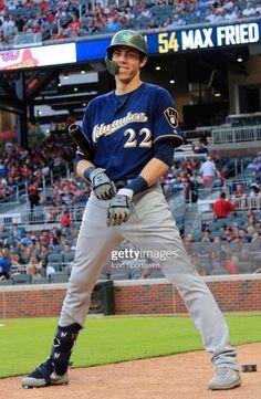 Hot Baseball Players, Baseball Guys, Baseball Stuff, Softball, Baseball Cards, Christian Yelich, Basketball Quotes, Wtf Face, Milwaukee Brewers