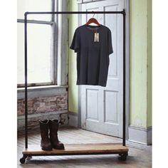 Industrial Garment Rack - Rustic design.