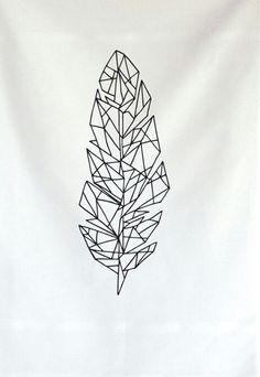feather, modern tattoo