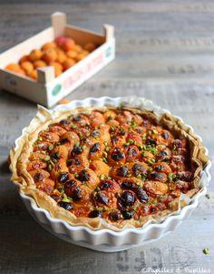 Tarte aux abricots amandes et éclats de pistache Tart Recipes, Veggie Recipes, Dessert Recipes, No Cook Meals, Nom Nom, Veggies, Healthy Eating, Baking, Breakfast