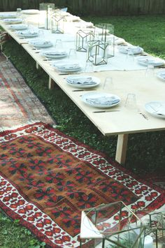 Host a boho-inspired outdoor Thanksgiving meal.