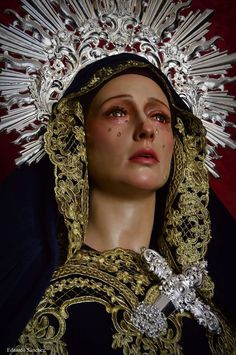María Santísima de la Caridad y Humildad. Ciudad Real. Blessed Mother Mary, Blessed Virgin Mary, Catholic Art, Religious Art, Amane Misa, Virgin Mary Statue, Our Lady Of Sorrows, Mama Mary, Mary And Jesus