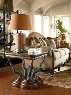 Ernest Hemingway Furniture Collection, like the use of the rug with this look