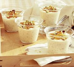 Creamy rice with double apricots