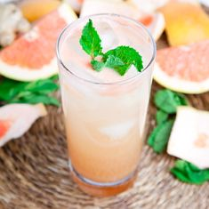 Grapefruit and Ginger Spritzer With Mint | 15 Boozy Spritzers To Keep You Cool On A Hot Day