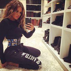 8baca3eeb59 Irony Alert  Khloe Kardashian Is Waist Training With The Same Corset As  Amber Rose Tiny