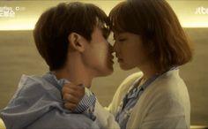 Ahn Min-hyuk and Do Bong-soon - Strong Woman Do Bong-soon Cute Couples Kissing, Couples In Love, Strong Girls, Strong Women, Strong Woman Do Bong Soon Wallpaper, Ahn Min Hyuk, Two Worlds, Park Hyung Shik, Kiss And Romance