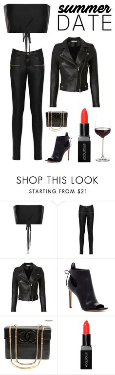 """""""Date Night in the City"""" by kotnourka ❤ liked on Polyvore featuring The Row, WearAll, IRO, Vince, Chanel, Smashbox and Crate and Barrel"""