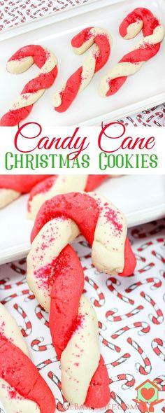 Candy Cane Sugar Cookies | Christmas Sugar Cookies | Christmas Cookies | Peppermint Cookies | Peppermint Dessert Recipe | #christmascookies #cookiesforsanta #peppermintdessert via @myhomebasedlife