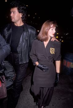 Priscilla Presley and her longtime partner Marco Garibaldi. 1990