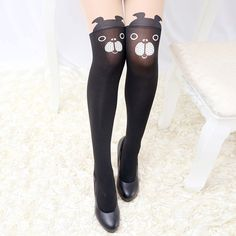 45e68a7faa4 Women Girls Cartoon Animal Pantyhose Kawaii Transparent Elastic Stretchable  High Tight Stockings at Banggood Tattoo Tights