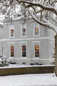 Which Masonry Paint With Anthracite Windows Google Search White Exterior Houses Grey