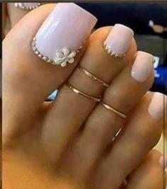 Gold Toe Ring, Gold Filled 2 Rings, Toe Rings Adjustable, Toe Rings for Women Toe Nail Color, Toe Nail Art, Nail Colors, Art Nails, Bright Summer Acrylic Nails, Summer Toe Nails, Pretty Toe Nails, Cute Toe Nails, Glitter Toe Nails