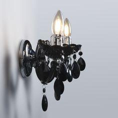 Aplique MARIE THERESA 2 negro  #lamparas #decoracion #iluminacion