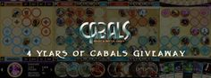 4 Years of Cabals News 4 Years, Card Games, Competition, Battle, Neon Signs, Magic, News, Cards, Maps