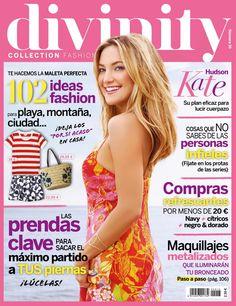 Revista DIVINITY 16, portada de julio 2015. Kate Hudson, su plan eficaz para lucir cuerpazo. La maleta perfecta: 102 ideas fashion.