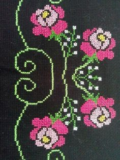 This Pin was discovered by HUZ Cross Stitch Designs, Cross Stitch Patterns, Cross Stitch Flowers, Cross Stitch Embroidery, Bookmarks, Diy And Crafts, Kids Rugs, Quilts, Cross Stitch Borders