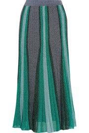 MissoniMetallic stretch-knit midi skirt