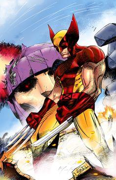 Wolverine VS. Sentinel- colors by *SaviorsSon on deviantART