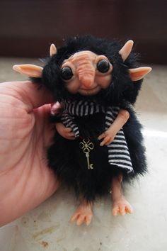 OOAK fantasy art doll little troll gnome TZEMO by Muyestillo