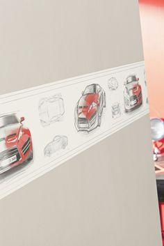 Collection : ONLY BOYS / Concept Car, zoom #Papierpeint #decoration #interieur #enfant #kids #boys #Caselio  http://www.caselio.fr